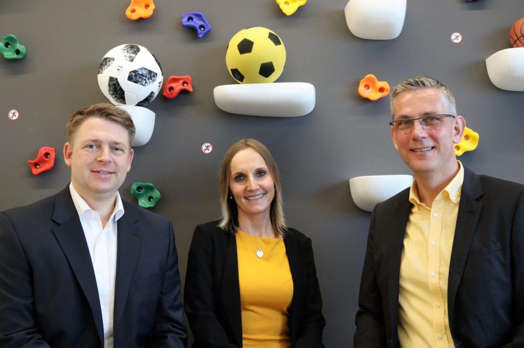 von links nach rechts: René Koch (Geschäftsführer), Iwona Sitarz (Marketing / Vertrieb), Guido Lehrke (Geschäftsführer); integral logistics GmbH & Co. KG